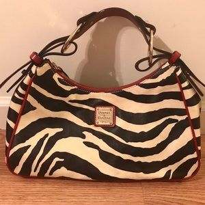 Dooney & Bourke Zebra Print Hand Bag